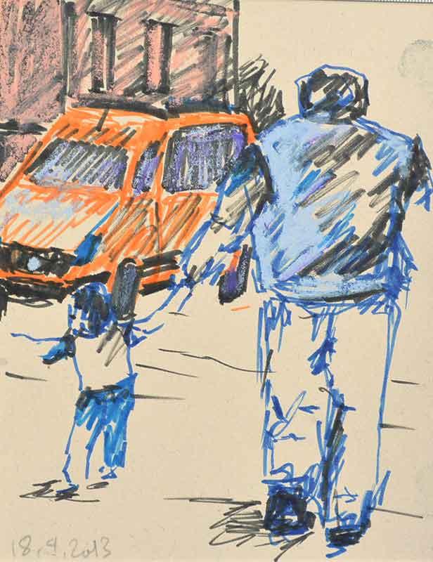 Urban Sketching der Kunstmalerin Barbara Storti in Liestal